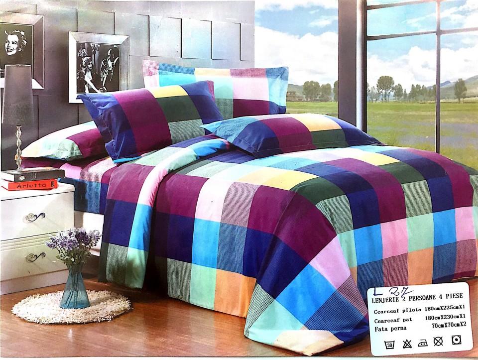lenjerie-pat-2-persoane-carouri-multicolora-242