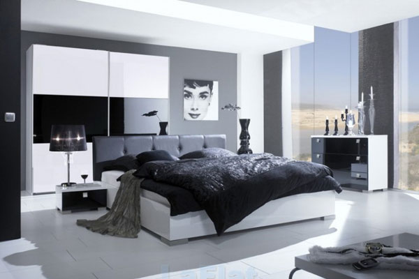 dormitor modern cu grinzi mari